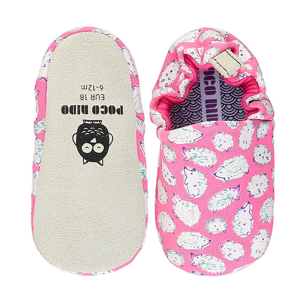 【英國 POCONIDO 】2020新款-手工嬰兒鞋 (粉紅小刺蝟)