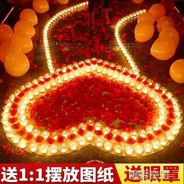 蠟燭浪漫驚喜生日求婚創意布置用品求愛表白示愛意心形蠟燭情人節 【韓語空間】
