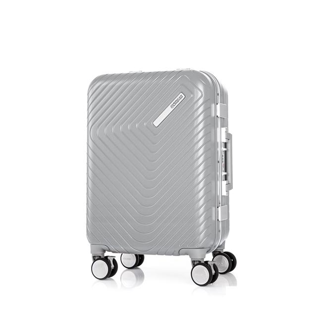 AT 美國旅行者 20吋Esquino 鋁合金細框剎車雙輪登機箱 銀 GN1*85001
