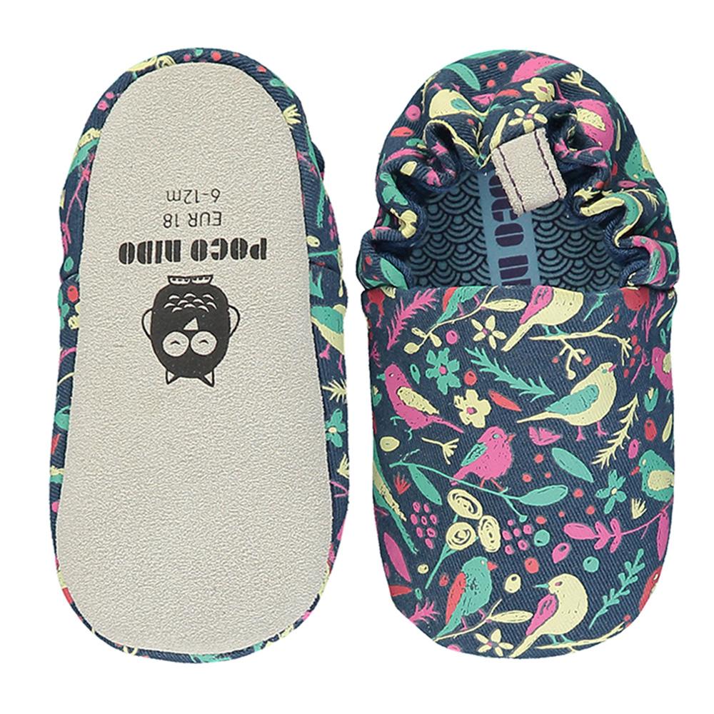 【英國 POCONIDO 】手工嬰兒鞋 (鳥語花香)