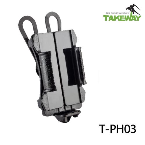 TAKEWAY 專業版運動型手機座(T-PH03) 公司貨-亮光黑