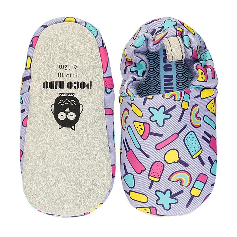 【英國 POCONIDO 】手工嬰兒鞋 (淡紫棒棒糖)