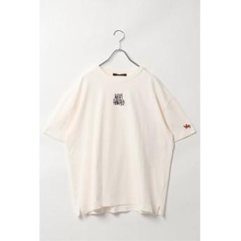 (VENCE EXCHANGE/ヴァンス エクスチェンジ)Mark Gonzales バック転写Tシャツ/メンズ ホワイト