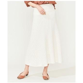 組曲 【Oggi6月号掲載】パターンミックス ニットスカート その他 スカート,アイボリー系