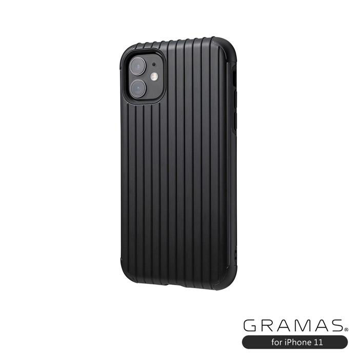 GRAMAS 東京職人工藝iPhone 11 (6.1吋)專用 雙料保護軍規防摔行李箱手機殼-Rib系