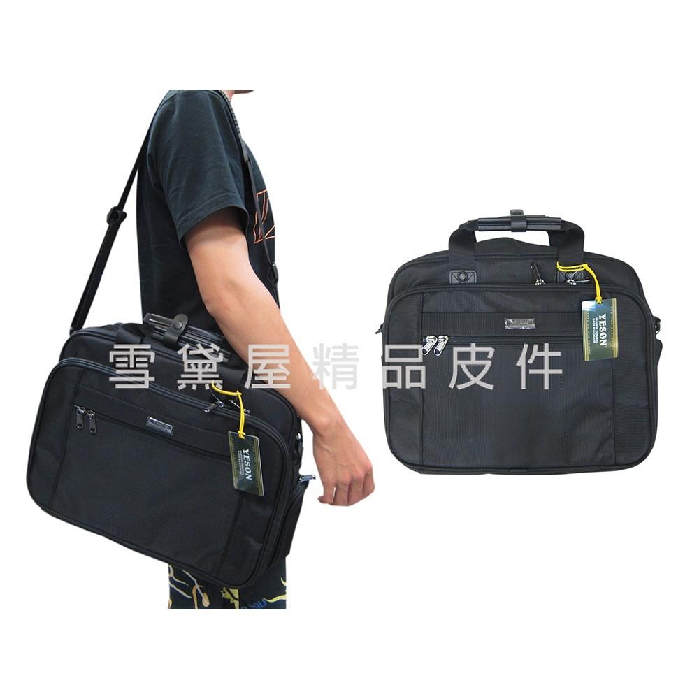~雪黛屋~yeson 公文包超大容量可a4資料夾高單數彈道防水尼龍布工具袋外出隨身旅袋固定拉桿台灣製