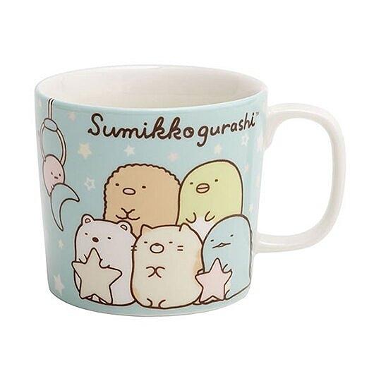 小禮堂 角落生物 陶瓷馬克杯 寬口杯 咖啡杯 茶杯 (綠 抱星星) 4974413-74607