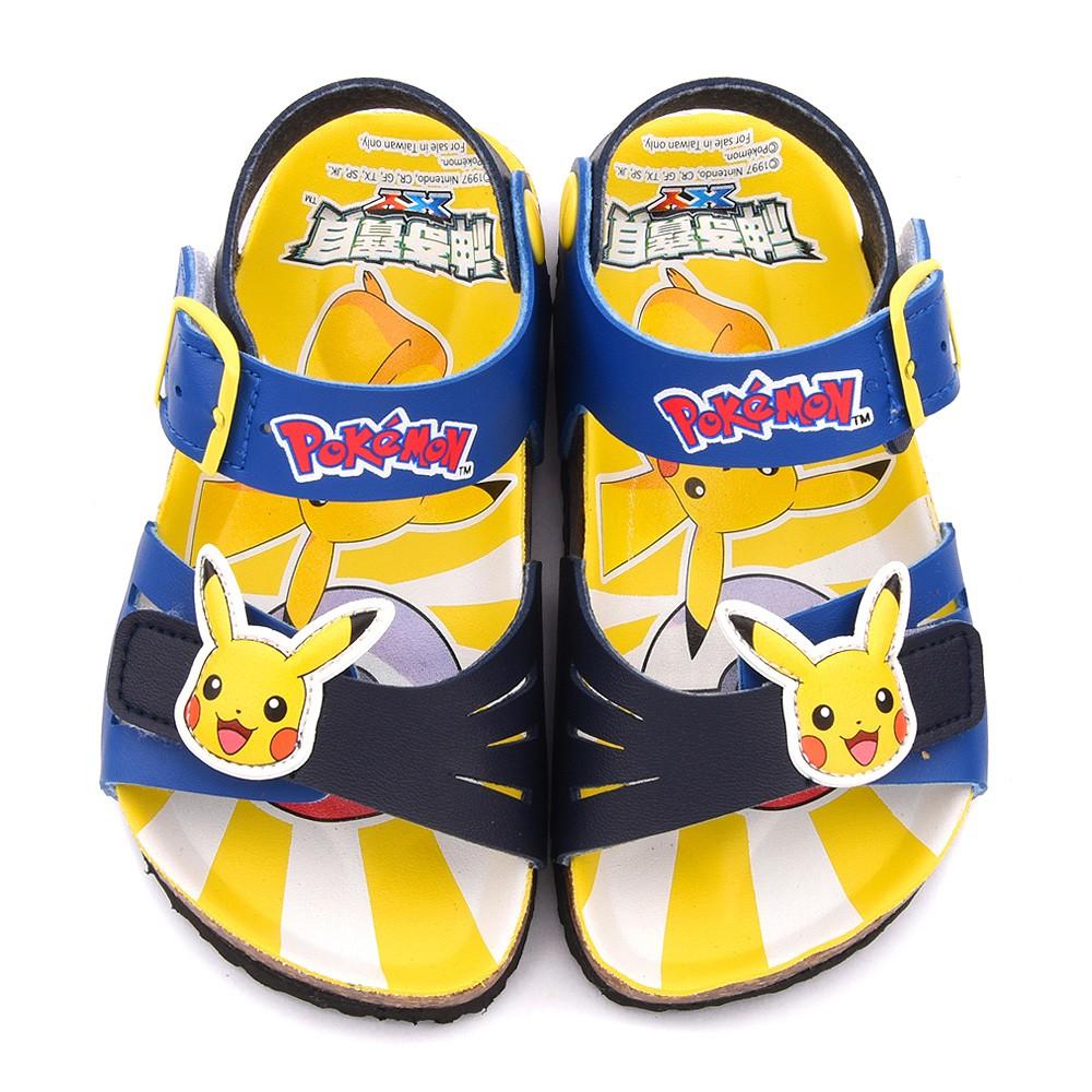 鞋次方 神奇寶貝(寶可夢)皮卡丘軟木風格涼鞋 中童 PA3563