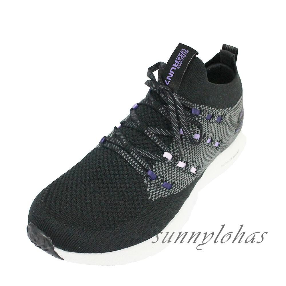 skechers(女)gorun7 hyper 慢跑鞋 運動鞋 輕量 避震 襪套 15219bkpr