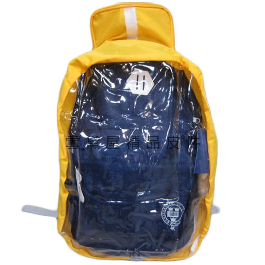 ~雪黛屋~unme 雨衣罩後背包雨衣罩40l台灣製造輕巧好收納不占空間可掛包包輕便攜帶防水尼龍+透明