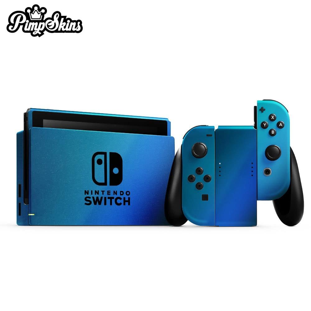 【PimpSkins】  任天堂 Nintendo Switch 專用包膜貼紙 貼膜貼紙-緞面冰川變色龍