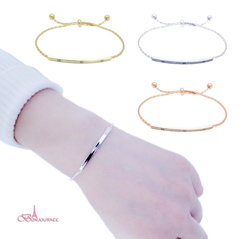 韓國手鍊 簡約可調 手鏈 手環 百搭 閨蜜手鍊 bonjouracc