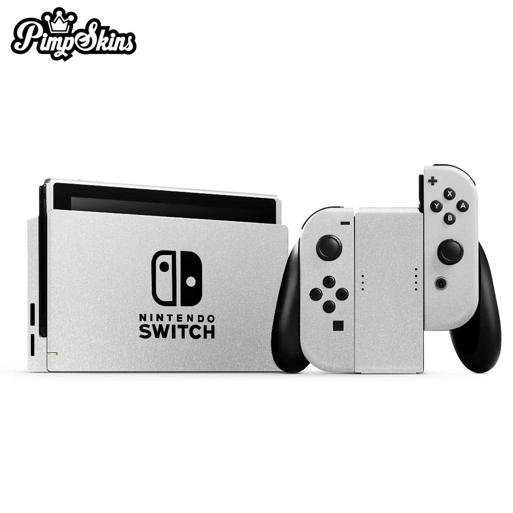 【PimpSkins】  任天堂 Nintendo Switch 專用包膜貼紙 貼膜貼紙-緞面鋁白