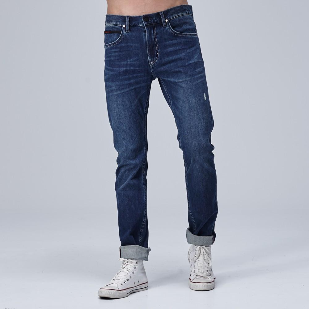 Lee 牛仔褲 706 低腰合身小直筒 男 中藍 四面彈
