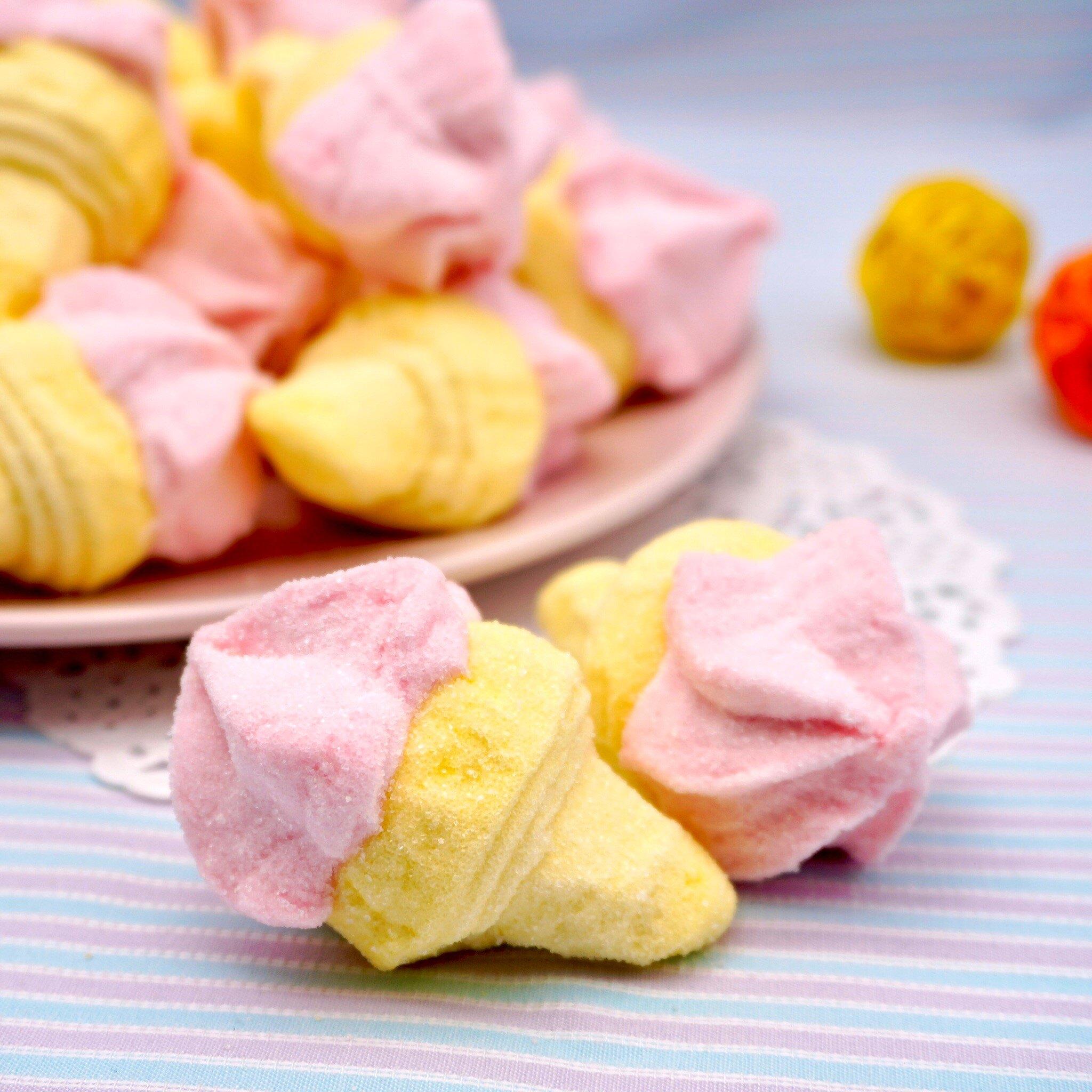 嘴甜甜 寶格麗冰淇淋棉花糖 200公克 花糖系列 甜筒 棉花糖 義大利 寶格麗 香蕉 草莓 香菇 小花 冰淇淋 現貨