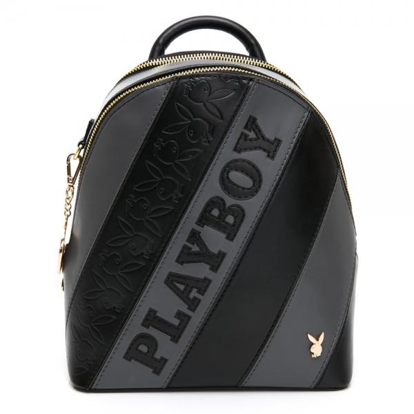 PLAYBOY 後背包 魅力拼接系列 黑色 592-1003-09-8