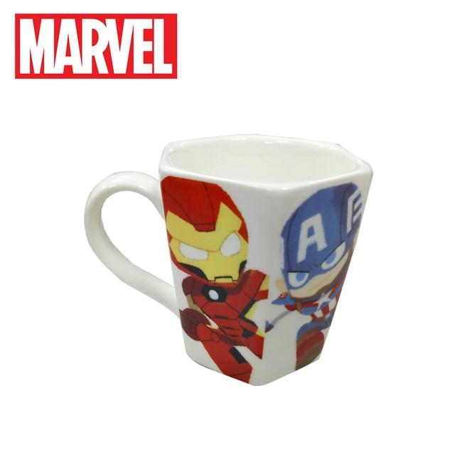 漫威英雄 六角形 馬克杯 230ml 咖啡杯 復仇者聯盟 marvel 日本正版248538