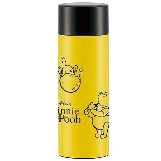 小禮堂 迪士尼 小熊維尼 保溫瓶 旋轉蓋 超輕量不鏽鋼 水壺 水瓶 350ml (黃 蜂蜜罐) 4973307-48598