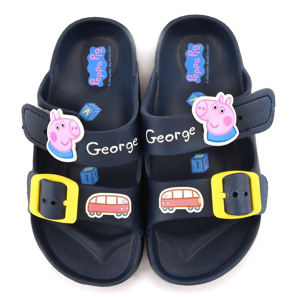 鞋次方 粉紅豬小妹喬治豬輕量戶外拖鞋 中童 PG0051 桃/藍 (共二色)