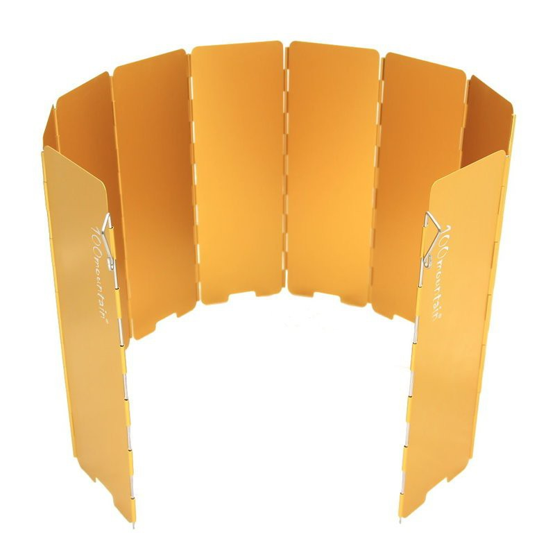 100mountain 十片鋁合金擋風板 金色 / 紅色