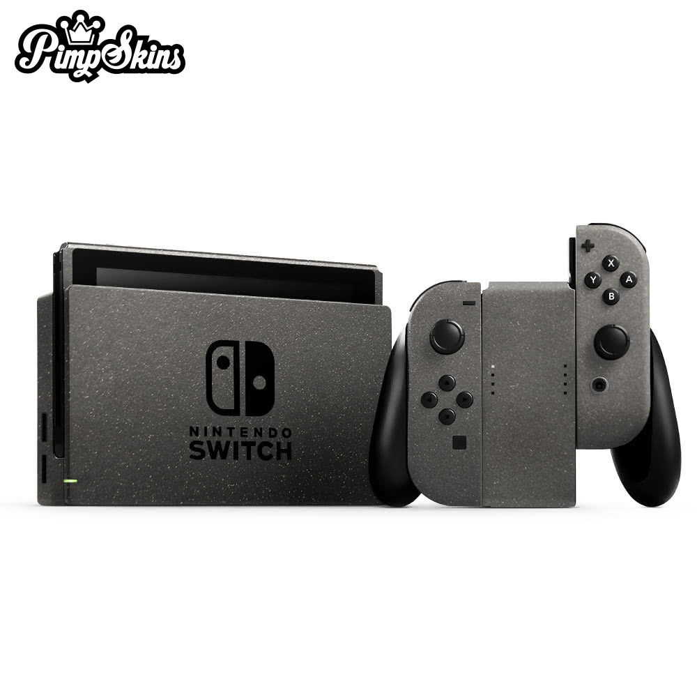 【PimpSkins】  任天堂 Nintendo Switch 專用包膜貼紙 貼膜貼紙-消光暗灰