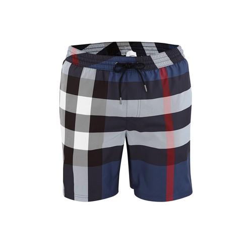 Check Drawcord Swim Shorts