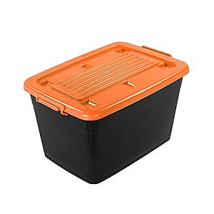 BQ800-2滑輪整理箱(底輪)-桔90L