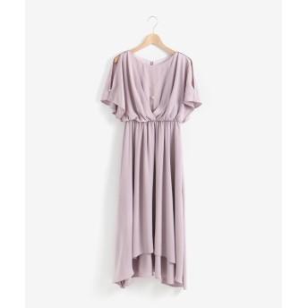 【ペルルペッシュ/Perle Peche】 フレアスリーブ2WAYドレス