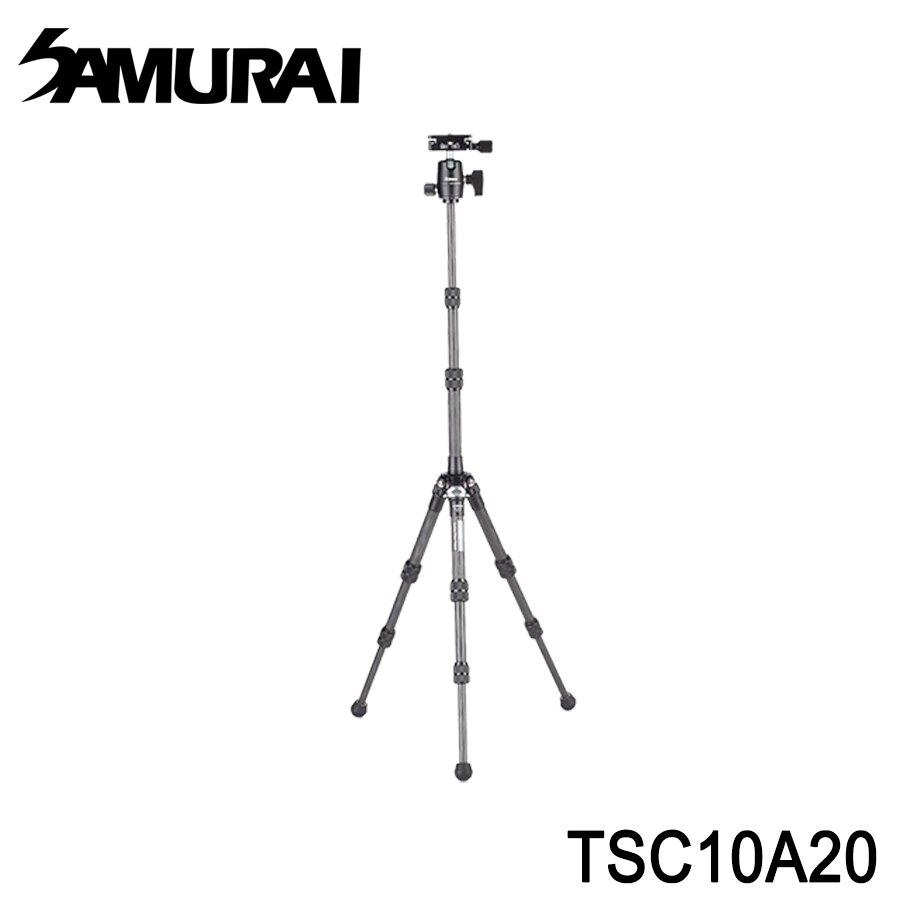 SAMURAI 新武士 TSC 10A20 輕騎兵 高階 碳纖 專業 輕量化 旅行 腳架 送MH1魔術手與M1手機夾
