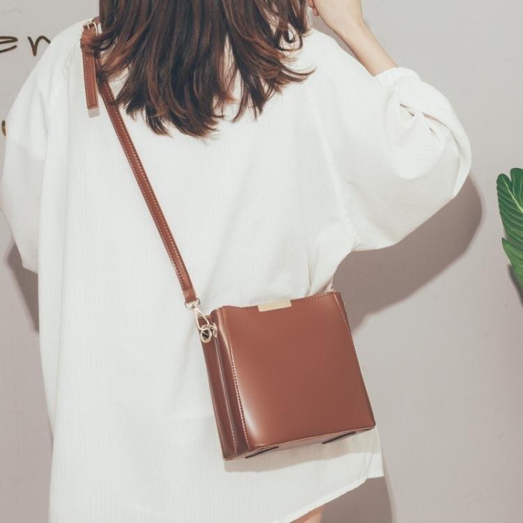 水桶包高級感法國小眾洋氣水桶包包女包2020新款潮時尚簡約百搭斜背包女