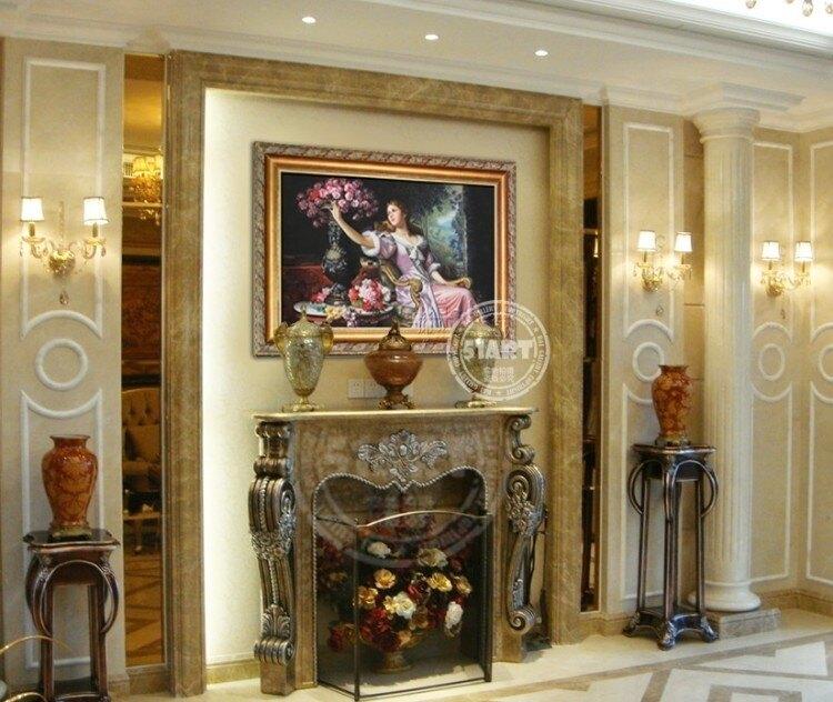 樂天優選~歐式人物手繪油畫 手繪歐式油畫客廳 古典人物手繪油畫0716