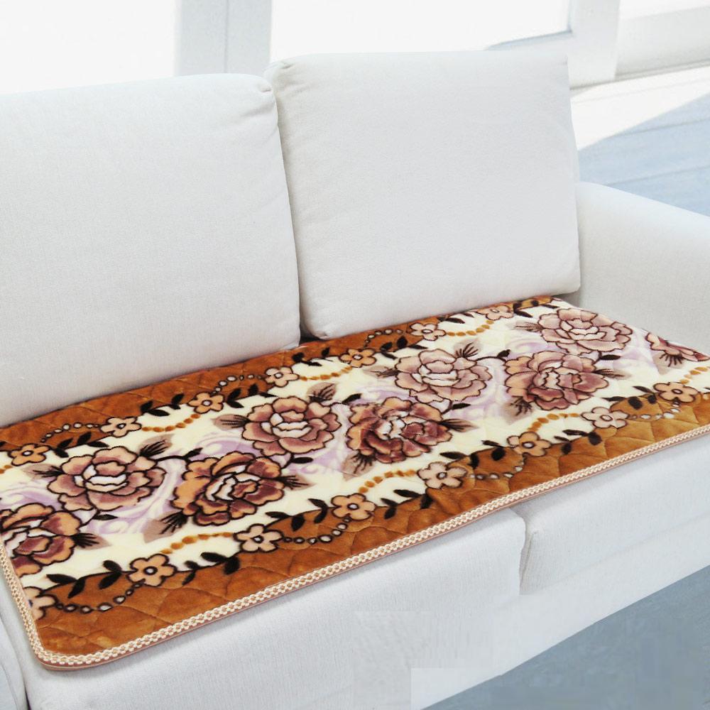 【雪芙絨】印花超柔雙人沙發坐墊-2色可選