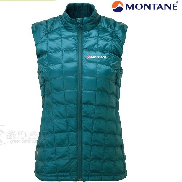Montane 英國 女 化纖保暖背心 Hi-Q Luxe Vest 卡藍 FHQLV-ZAN 綠野山房