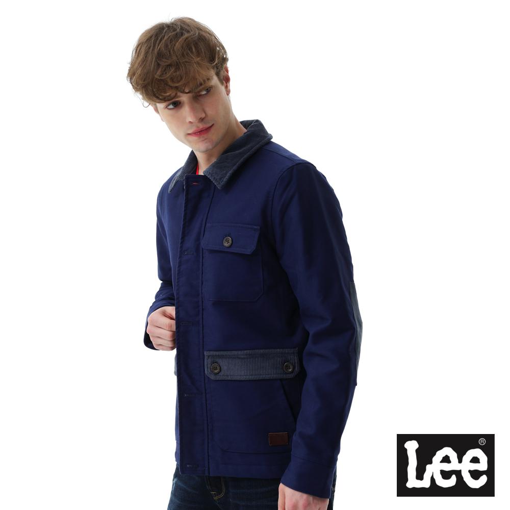 Lee 休閒灰領外套 RG 男款 藍