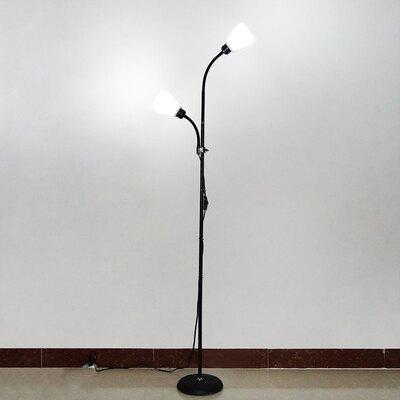 落地燈 雙頭立式落地燈ins風網紅臥室床頭北歐簡約遙控客廳書房落地臺燈『MY2073』