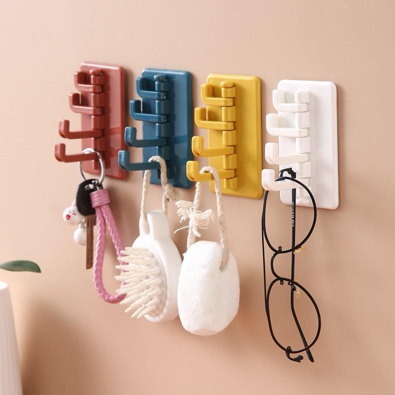 效除小舖四孔掛勾超方便 可黏好安裝 北歐風 浴室 廚房掛勾