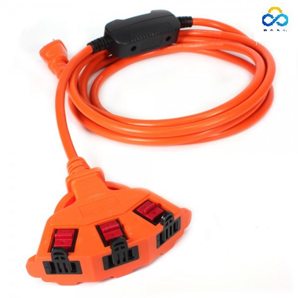 群加 PowerSync 2P安全鎖1擴3插 過載保護 動力延長線-10M-15M(TPSIN3LN3100)