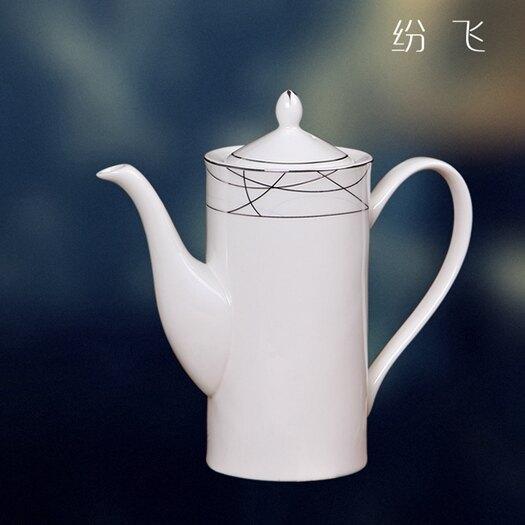 咖啡壺歐式下午茶高檔茶具套裝英式陶瓷咖啡壺咖啡杯套裝家用創意家居 LX 熱賣單品
