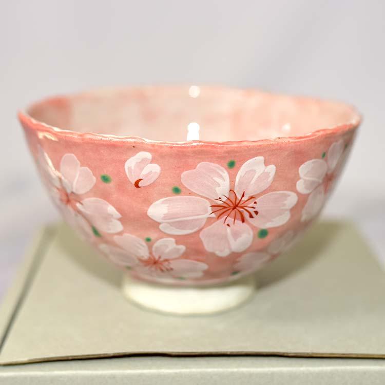 櫻花 湯碗 美濃燒 磁器 日本製