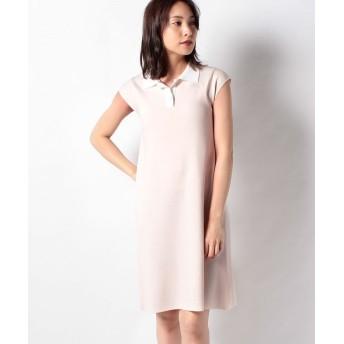 【50%OFF】 ミス ジェイ ハノン 配色襟付きニットドレス レディース ベージュ 38 【MISS J】 【セール開催中】