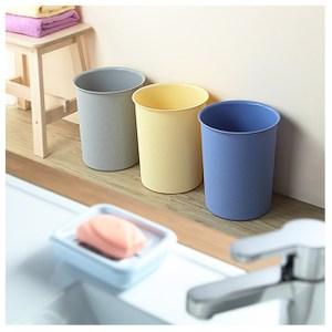 【綠地球】KYOTO 圓型 小垃圾桶5.5L(三入)藍*3