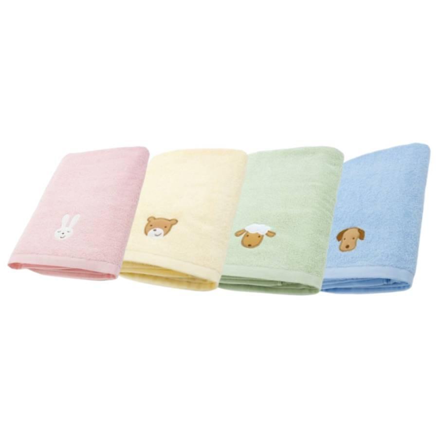 台灣興隆毛巾素色繡花浴巾 單入(顏色隨機出貨)