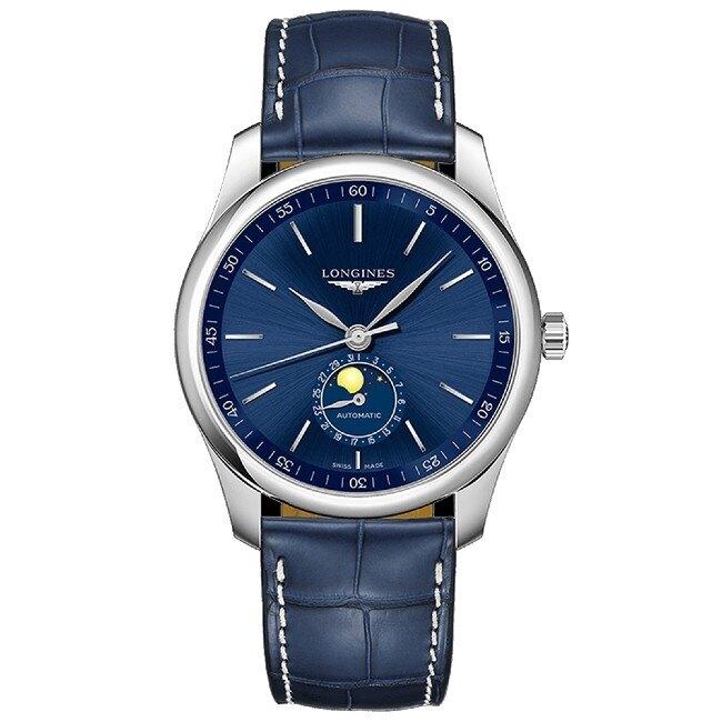 LONGINES 浪琴錶 L29094920 巨擘系列月相機械腕錶/藍面 40mm