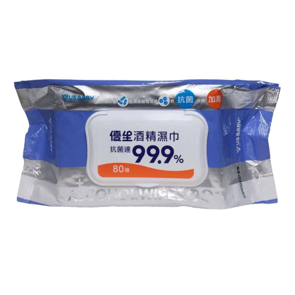 優生 超厚型抗菌酒精濕巾 80抽/包◆德瑞健康家◆