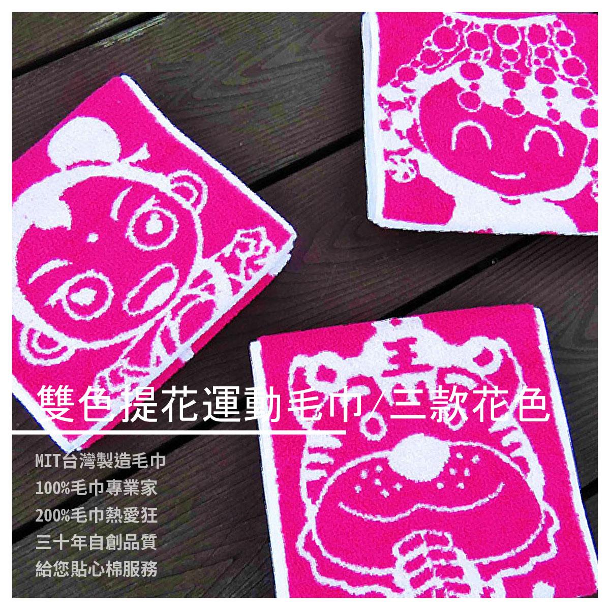 【彩虹毛巾】天上聖母/太子元帥/虎爺吃炮雙色提花運動毛巾/三款花色