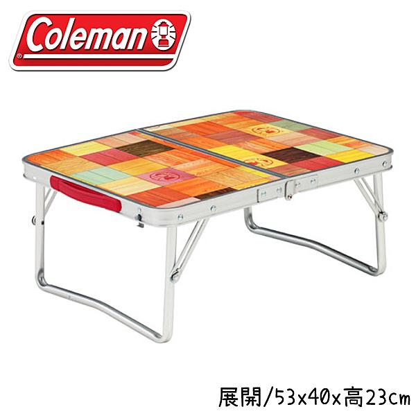 【Coleman 美國 自然風抗菌迷你桌】26756/折疊桌/小桌/露營/野餐/矮桌