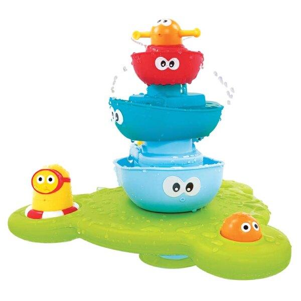 以色列 Yookidoo 戲水玩具-海洋公園疊疊樂噴泉/洗澡玩具