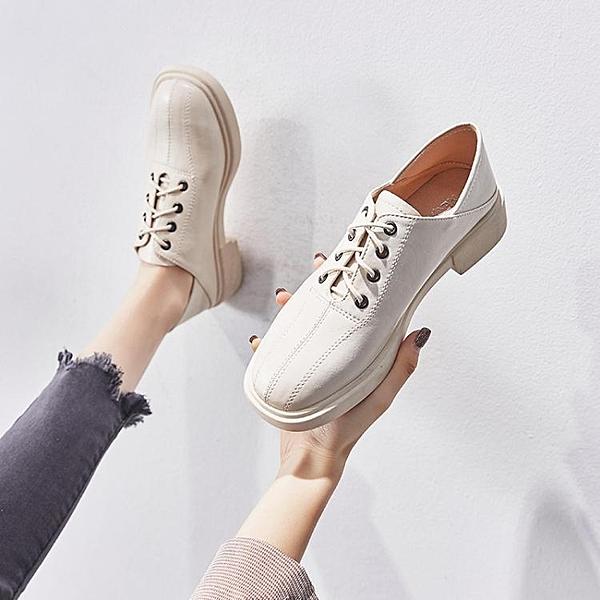 英倫風復古小皮鞋2020春季新款單鞋春秋款平底鞋軟底鞋子百搭女鞋 淇朵市集
