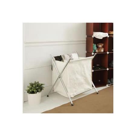 H&R安室家 附蓋分類髒衣收納籃/洗衣籃 (三格) BN05