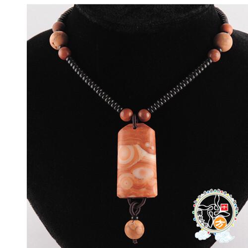 龍宮舍利原礦(珊瑚色)項鍊j十方佛教文物